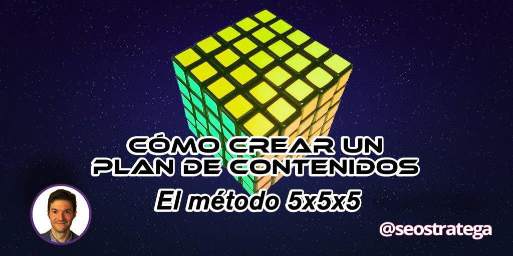 Cómo crear un plan de contenidos BRUTAL: el método 5x5x5