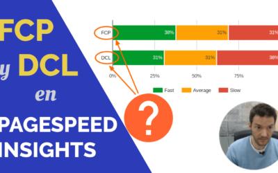 FCP y DCL en Pagespeed Insights. Qué son y cómo usar estas métricas de tiempo de carga