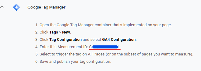 analytics ga4 tag manager measurement id