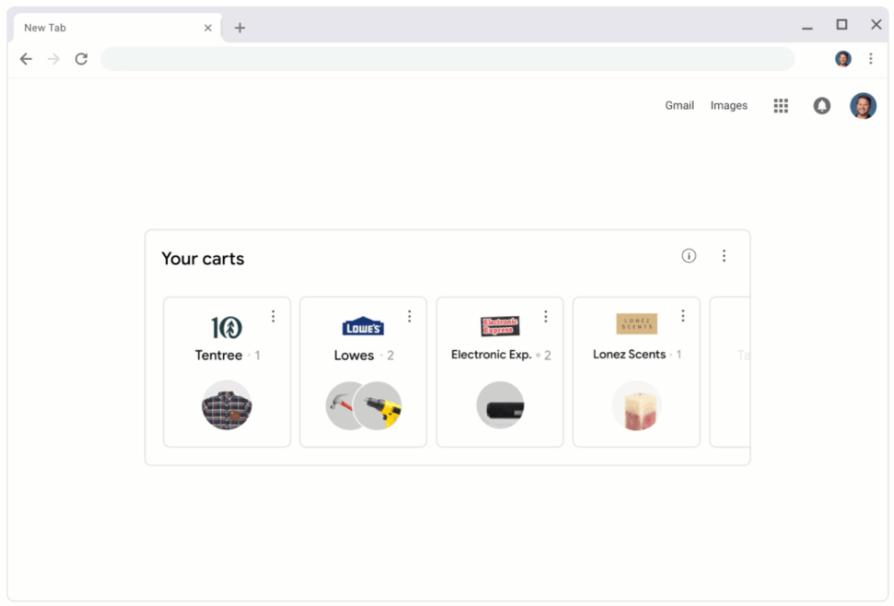 pantallazo de google chrome cart